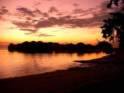 ヌサドゥアビーチでの朝焼け