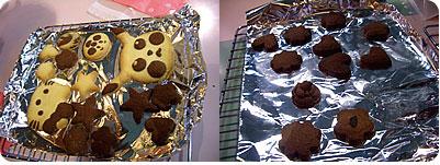 焼けたクッキー