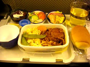 機内食(夕飯)