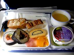 仁川空港行きでの機内食