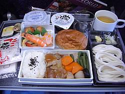 シンガポール航空のお昼の機内食