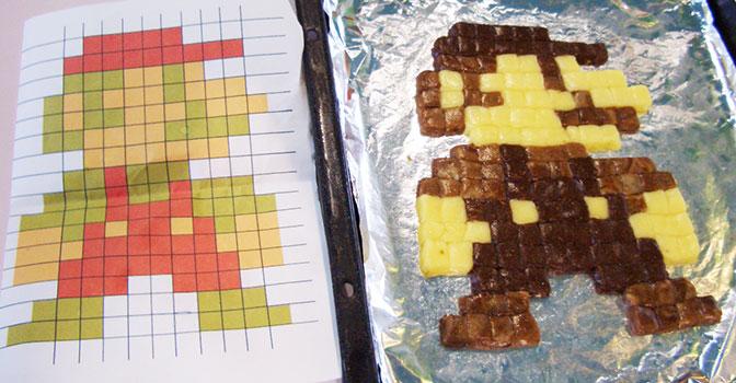 お菓子の城でドット絵マリオクッキーを焼いてきた(マリオクッキーの作り方)
