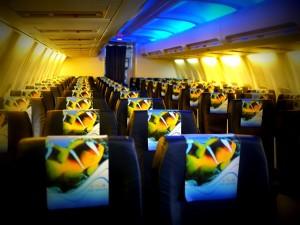 フライ・ミクロネシアの機内